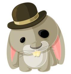 Bunny in a Bowler vector image
