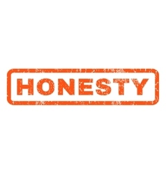 Honesty rubber stamp vector