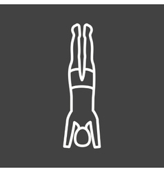 Support headstand vector