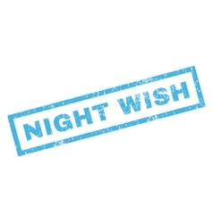 Night wish rubber stamp vector