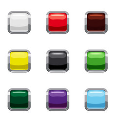 Selection buttons icons set cartoon style vector