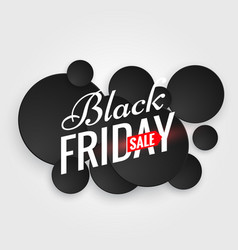 Black friday sale poster with multiple black dots vector