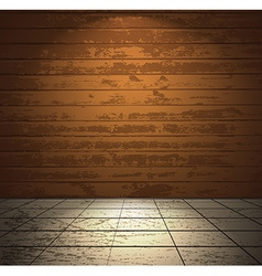 Wooden room with light floor vector