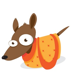 Dog in a bag vector