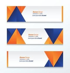 Abstract banner design blue orange vector