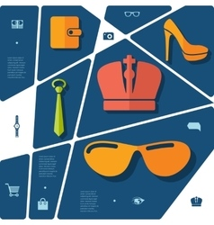 Fashion flat infographic vector