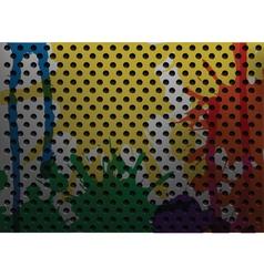 painted metal vector image