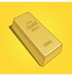 Gold bar pop art vector
