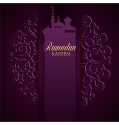 Ramadan kareem greeting ornate background vector