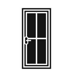 Glass door icon simple style vector