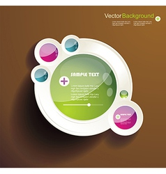 Abstract 3d circles background design vector image