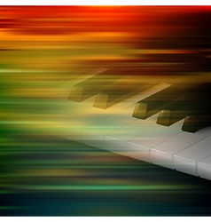 abstract brown motion blur background with piano vector image vector image