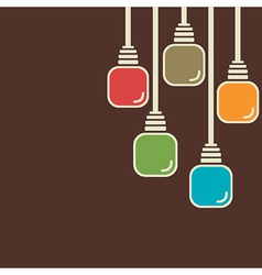 Abstract colorful bulb background vector