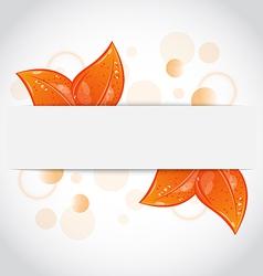 Autumnal seasonal nature background with orange vector image