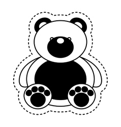Bear teddy toy isolated icon vector