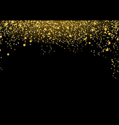 Bright luxurious golden particle mist falling vector