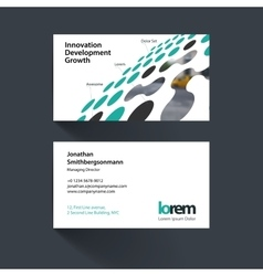 Business card template with perspective vector