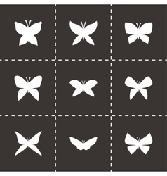 butterfly icon set vector image vector image