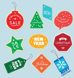 Christmas tag vector