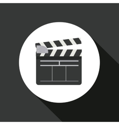 clapperboard icon design vector image