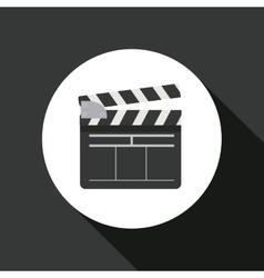 clapperboard icon design vector image vector image