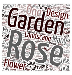 Design your own rose garden text background vector