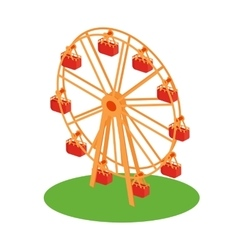 Ferris wheel attraction vector