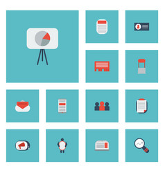 Flat icons customer summary id message and other vector