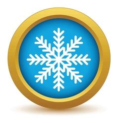 Gold snowflake icon vector image