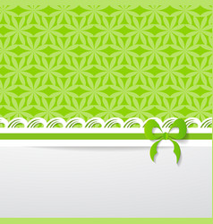 green greeting card vector image vector image