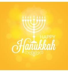 Hanukkah card sun lights background vector
