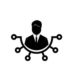 Isolated business icon vector image vector image