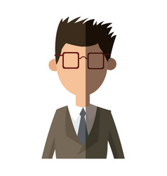 Man with suit and glasses image vector