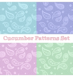 paisley seamless patterns set in pastel colors vector image vector image