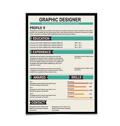 Resume template cv creative background vector