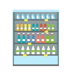 showcase refrigerator drinks vector image