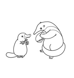 The ant-eater and the platypus coloring vector