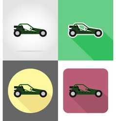 Transport flat icons 48 vector