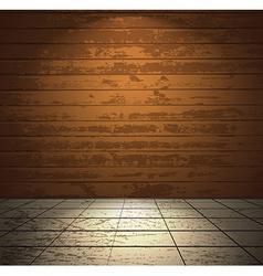 Wooden room with light floor vector