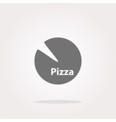 Icon pizza in flat style isolated on white vector