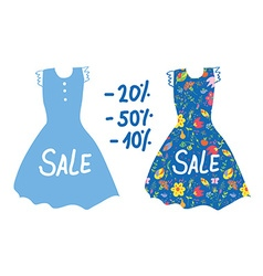 Summer sale banner with dresses for women vector