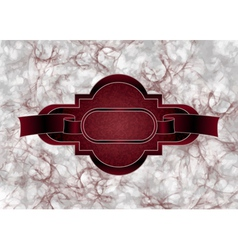 maroon grungy frame vector image