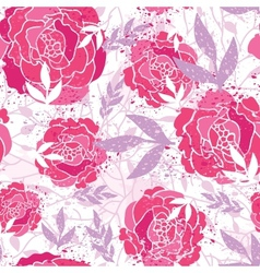 Magical painted roses seamless pattern background vector image