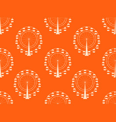 seamless pattern with a ferris wheel vector image