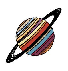 Planet saturn astronomy universe icon vector