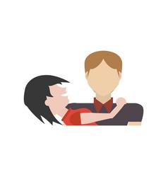 couple romantic cute relationship vector image