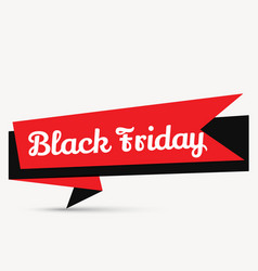 Stylish black friday element design in red and vector