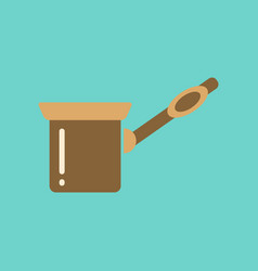Flat icon on background coffee arabic turk vector