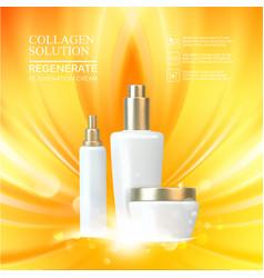Beauty skin care set vector