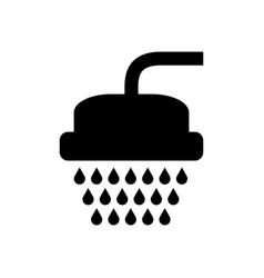 Electric shower open vector